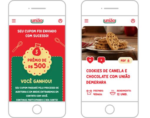 Hotsite União - Mobile